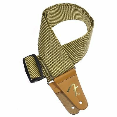 "Genuine Fender 2"" Vintage Yellow Tweed Guitar Strap, 099-0687-000"