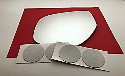 Fits 14-18 Mitsu Outlander 16-18 Sport Pass Heated Mirror Glass Lens w//Adhesive
