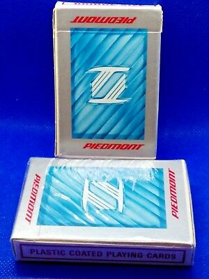 Vintage Piedmont Airlines Custom Playing Cards Two Decks