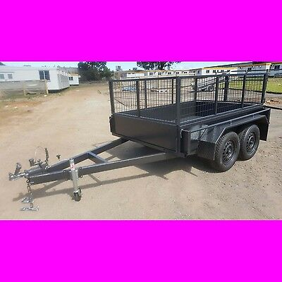 8x5 tandem trailer box trailer with cage Australian made