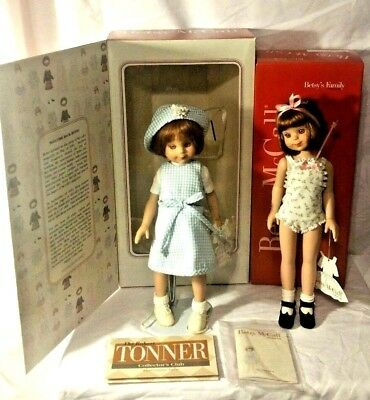 "2 Robert Tonner Betsy McCall Dolls Just & Welcome Back 13-14"" Dolls with Clothes"