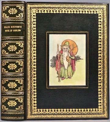 c.1930 Heath Robinson's Book of Goblin Color Plates Bound by Cottage Bindery