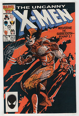 Uncanny X-Men 212 (Dec 1986) [1st Wolverine vs Sabretooth] Signed by Claremont X