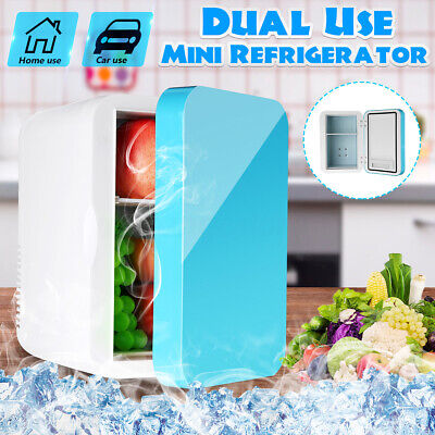 AU Car Home Dual Use Mini Fridge Travel Refrigerator Cooler Freezer Camping 6L