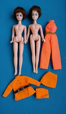 Vintage Topper Dawn Doll - Longlocks - Head to Toe- 2 Dolls and 2 Outfits!