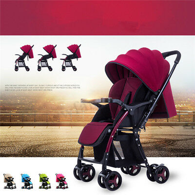 2019 Portable Compact Lightweight Jogger Baby Stroller Pram Travel Carry-on Safe