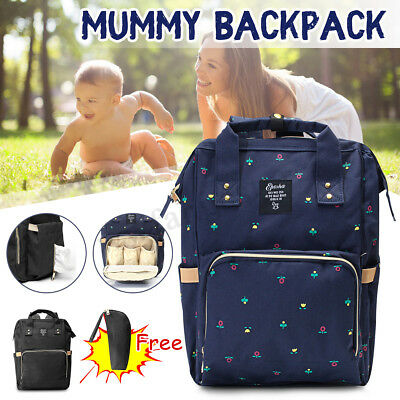 Multifunctional Mummy Backpack Baby Diaper Nappy Changing Bag Waterpoof Travel