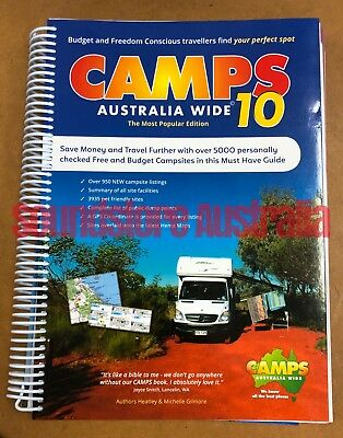 New 2019 Camps 10 Australia Wide A4 Spiral Bound Book Camps10