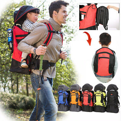 Baby Toddler Kid Outdoor Carrier Hiking Walking Backpack w/ Sun Canopy Raincover