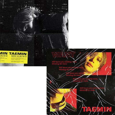 SHINEE TAEMIN [WANT] 2nd Mini Album 2 Ver SET 2CD+2Book+2Card+2Stand SEALED