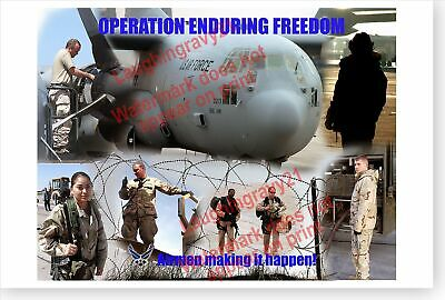 Air Force Let/'s Roll USAF Moron Air Base Poster Operation Enduring Freedom U.S