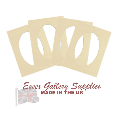 OVAL Picture And Photo Mounts - Frame Mounts - IVORY/CREAM