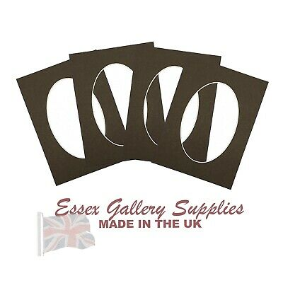 BLACK oval picture and photo mounts
