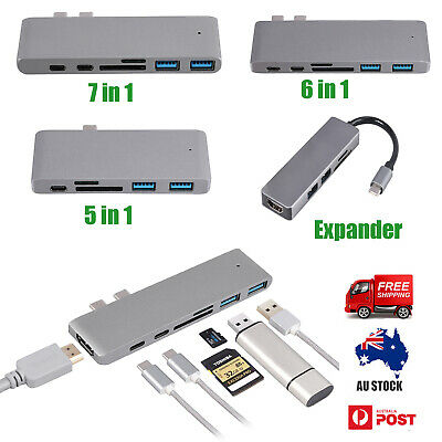 7 in 1 USB-C Type C HD Output 4K HDMI USB 3.0 SD/TF Adapter HUB For MacBook Pro