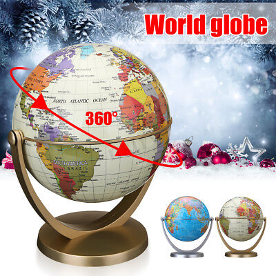 360° Swivel Rotating World Earth Globe Map Stand Kids Child Toy Educational Gift