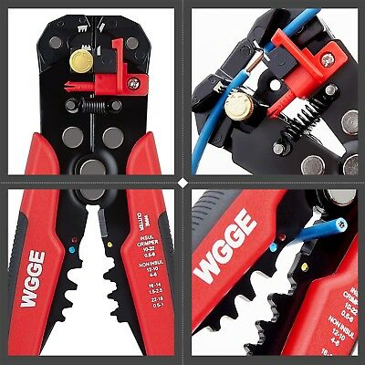 WGGE WG-014 Self-Adjusting Insulation Wire Stripper, For stripping wire from AWG