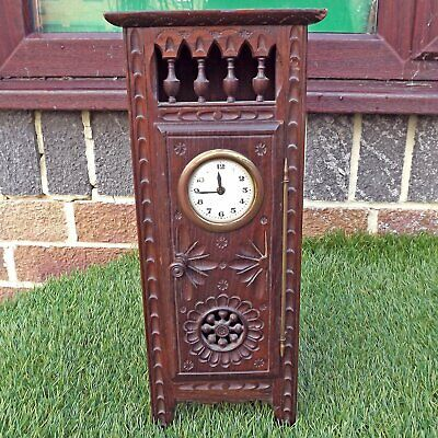 Antique / Vintage French Brittany Dolls Furniture.Style Clock Breton Miniature