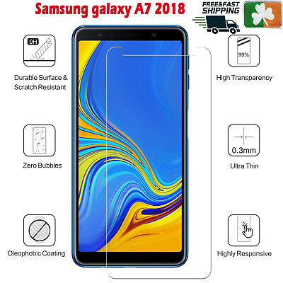 Premium Quality Tempered Glass Screen Protector Film For Samsung Galaxy A7 2018