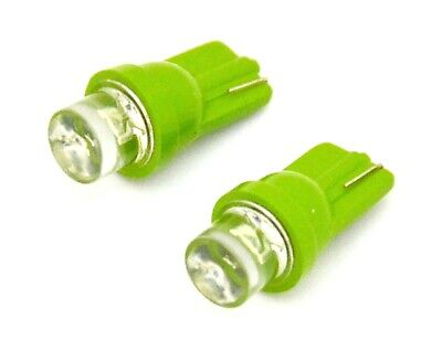 LED bulb 194 green large tube style 1 diode wedge base 2 pack