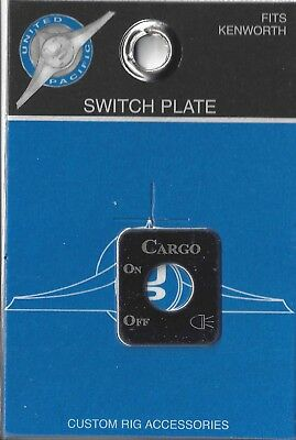 Switch plate cargo lights stainless steel etch block letters for Kenworth toggle