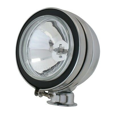 "Work light 5"" round off-road fog lights H3 chrome glass lens Peterbilt Kenworth"