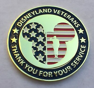 Disney Land Military Veterans Thank You Service Challenge Coin