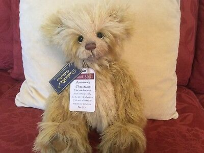 Charlie Bears Anniversary Cheesecake Isabelle Lee mohair Ltd Edition