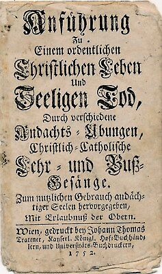 Nr 23908  Andachtsbild holy card  Stich Gebet Mutter Gottes  Maria 1752