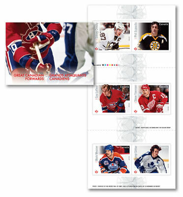 2016- Canada -NHL-Forwards- Permanent- Stamps - Booklet of 6  -MNH