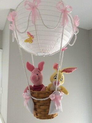Disney Friends in a nursery child's Hot air balloon light shade