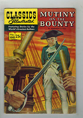 CLASSICS ILLUSTRATED No. 100 Mutiny on the Bounty - 25c - HRN 169