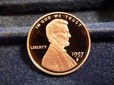 1997-S Lincoln Memorial Cent From Proof Set A-30-19