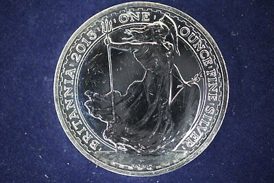 2013 Britannia - 2 Pounds UK Great Britain 1 oz Silver .999 Fine