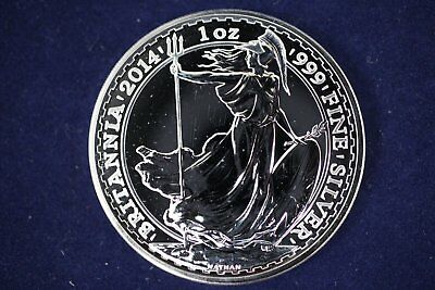 2014 Britannia - 2 Pounds UK Great Britain 1 oz Silver .999 Fine