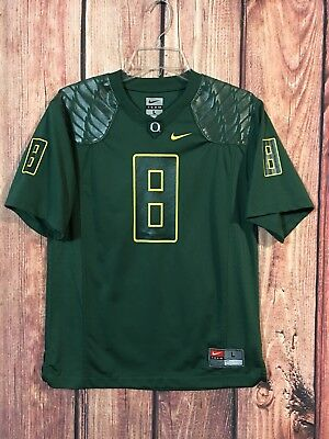 cf2cb8d5e Nike Team Oregon Ducks Green Jersey Football Size Youth Large  8 Mariota  NCAA