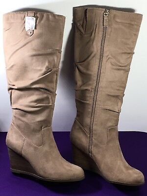 db10c0f40cd DR. SCHOLLS POE Wedge Boots In Stucco Womens Size 10 M US EU 40 MSRP ...