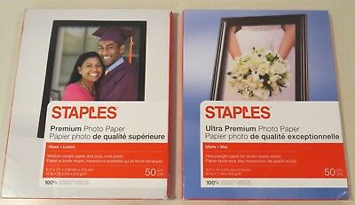 LOT OF 5 Staples Photo Supreme Matte Paper 8 5