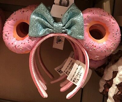 Donut Minnie Mouse Ears Headband Disney World Theme Parks NEW NWT