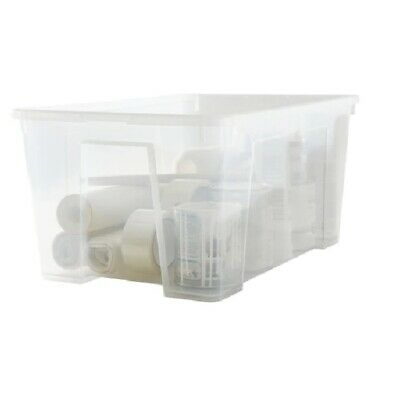 Ikea Quality Storage Bo Clear Box With Lid Home Office