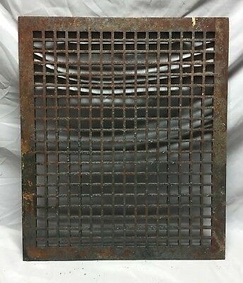Antique Rectangular Heat Grate Grill Cold Air Return Geometric 20X24 38-19M