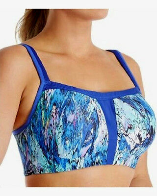 14549a088a929 Le Mystere 920 High Impact Underwire Sports Bra 34D Blue Convertible NWT  62