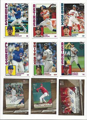 1984 Design & 2018 Topps Now Review -   2019 Topps Inserts -All Listed- U Pick!!