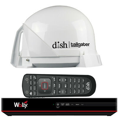 KING DISH Tailgater Satellite TV Antenna Bundle w/DISH Wally HD Rece... [DT4450]
