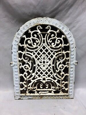 Antique Arched Top Heat Grate Maltese Cross Gothic Arch 9X13 131-19C
