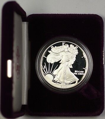 1989-S Proof American Silver Eagle $1 Coin ASE 1 Troy Oz .999 with COA and OGP