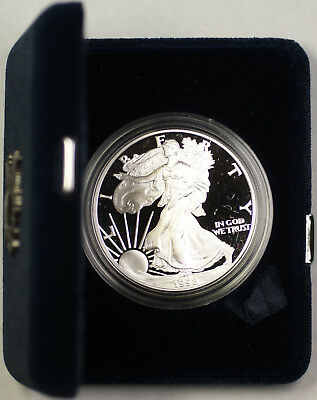 1998 American Silver Eagle 1oz Silver ASE Coin Proof UNC with COA in OGP
