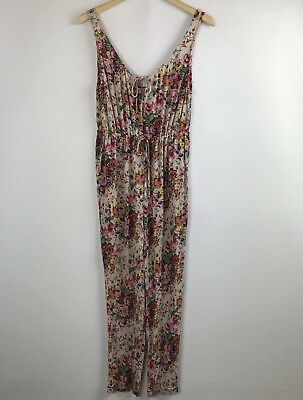798733f1465e Auguste The Label Womens Sleeveless Jumpsuit Size 6 Draw String Tie Waist  Floral