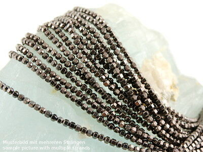 Carved Silver Hematite Gemstone Flower loose bead 15.5 inch WH2764