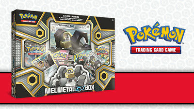 Melmetal GX Box Collection Pokemon TCG 4 Booster Packs + Promo Sun Moon PRESALE
