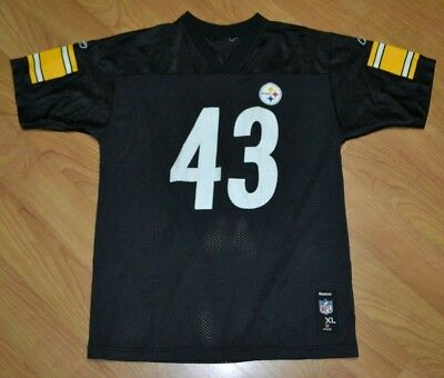 cc65c17ed Pittsburgh Steelers Troy Polamalu Football Jersey Youth XL Nice NFL Reebok